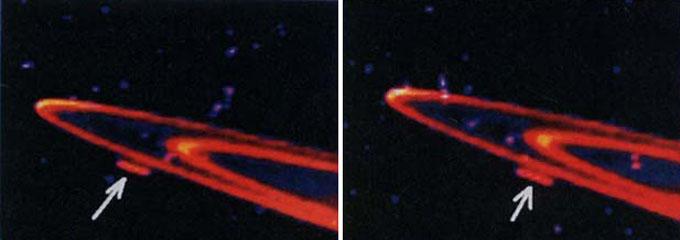 ハッブル宇宙望遠鏡が捉えた土星リングの巨大UFO