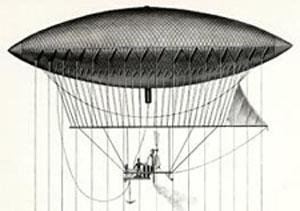 蒸気エンジンで飛んだ飛行船