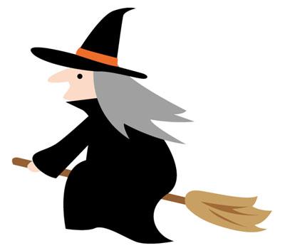 三角帽を被った魔女