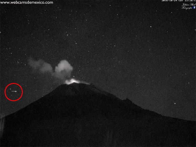 ポポカテペトル山のUFO1