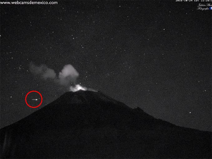 ポポカテペトル山のUFO2