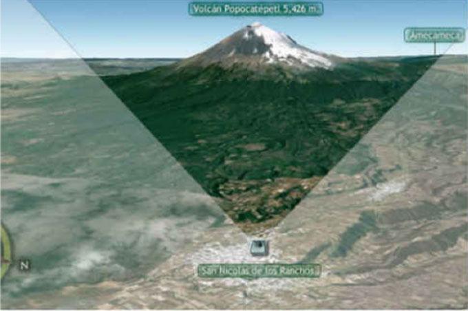 ポポカテペトル山の観測カメラ