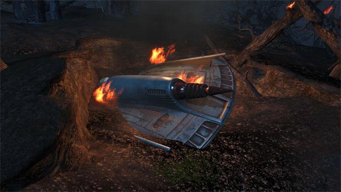 UFO墜落のイメージ