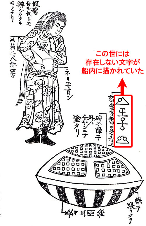 虚舟に描かれていた宇宙文字