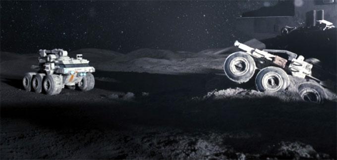 月に囚われた男、月面シーン