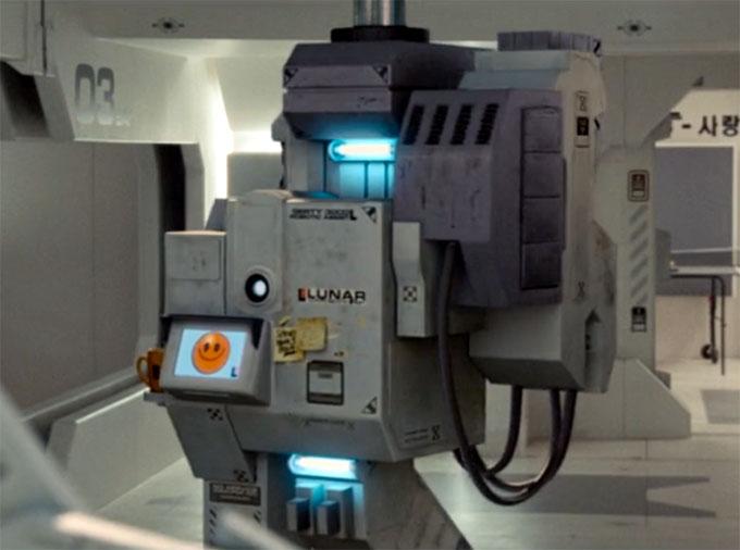 月に囚われた男。ロボットのガーティ
