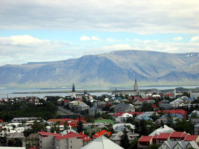 アイスランドの首都レイキャビク