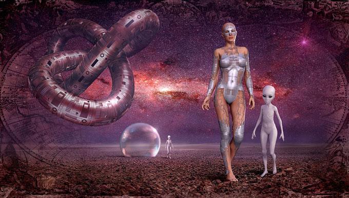 進化した人類のイメージ