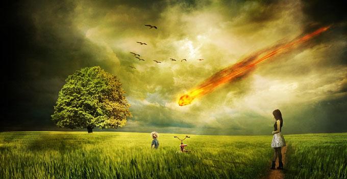 隕石の落下