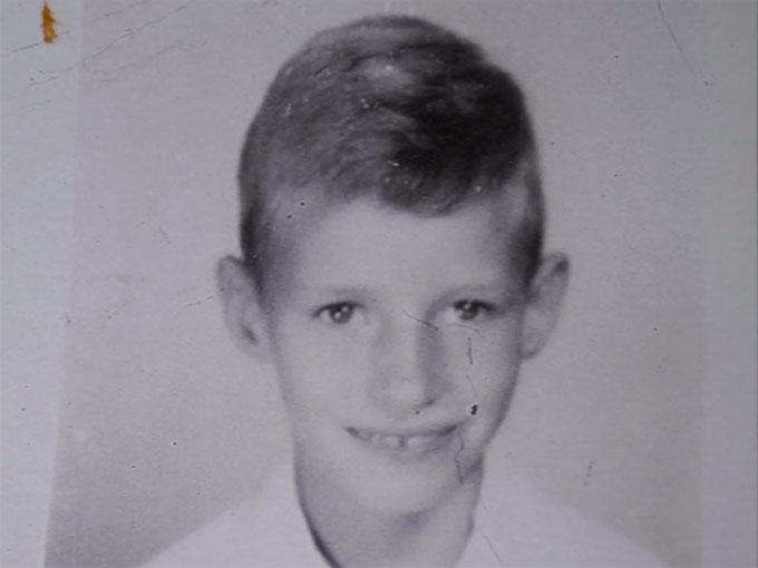 少年の頃のデヴィッド・ハギンズ