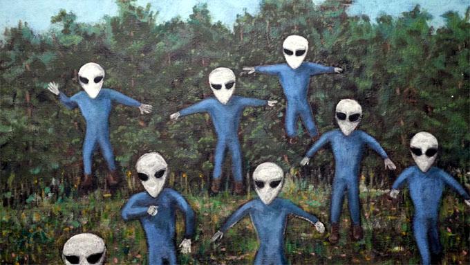 ハギンズが初めて目撃した宇宙人グレイ